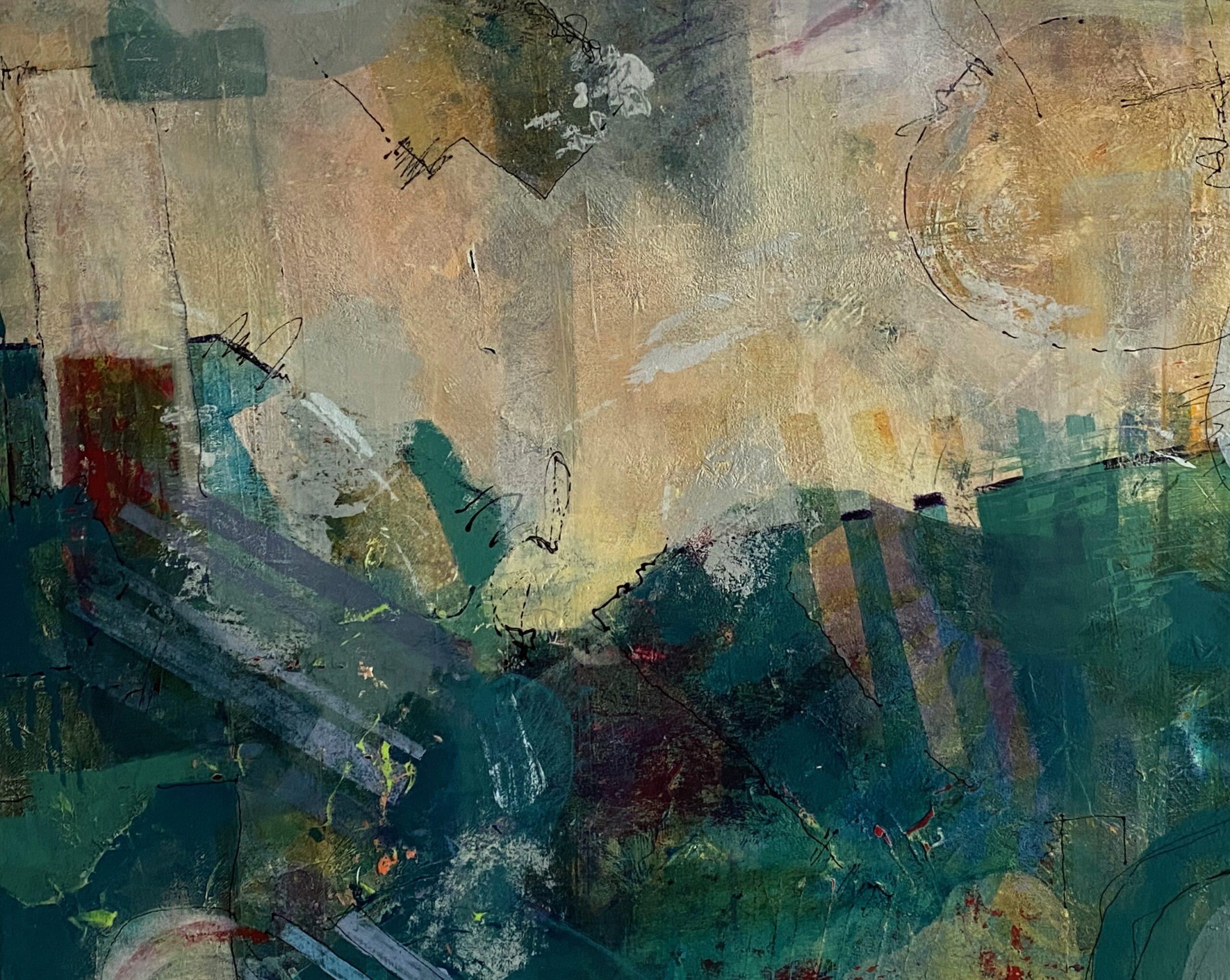 Photo of three panel artwork